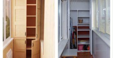 Угловой шкаф на балкон: особенности выбора и размещения