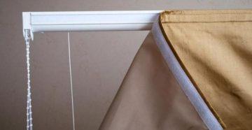 Как крепятся римские шторы?