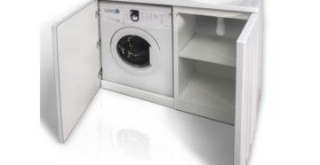 Как выбрать тумбу с раковиной под стиральную машину?