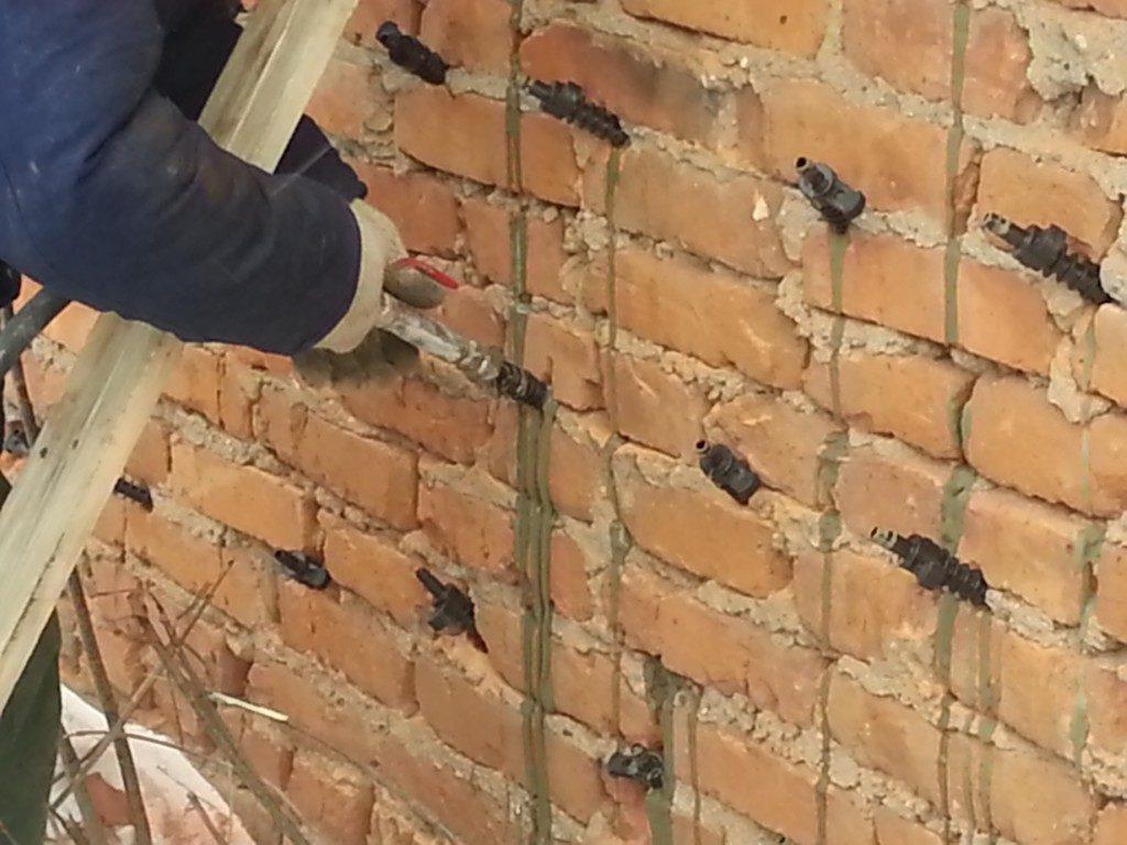 Инъектирование кирпичной кладки цементным раствором бетон 175