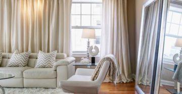 Оформление окна в гостиной: полезные рекомендации