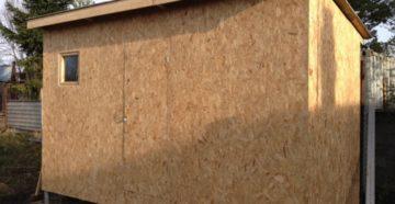 Тонкости постройки сарая из ОСБ-плиты