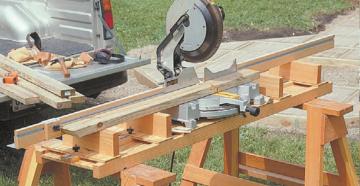 Как сделать стол для торцовочной пилы своими руками?