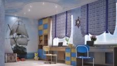 Варианты оформления потолка в детской комнате для мальчика