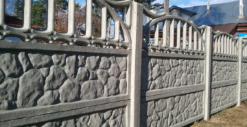 Секционный бетонный забор: плюсы и минусы