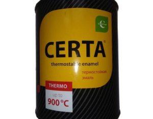 Термостойкая эмаль Certa: особенности и технические характеристики