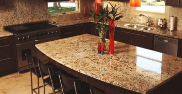 Выбор и советы по уходу за столешницами из камня для кухни
