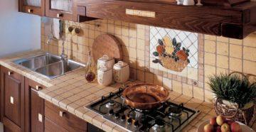 Фартук на кухню из плитки: как выбрать и оформить?