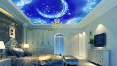 Натяжной потолок небо: красивые идеи в интерьере