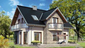 Проекты красивых домов с мансардой площадью до 150 м2