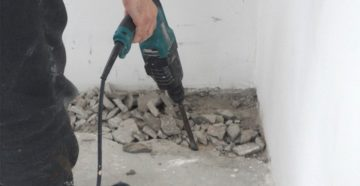 Демонтаж старой стяжки при монтаже пола