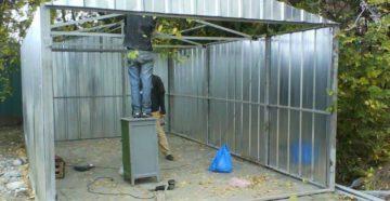 Как сделать гараж из профлиста своими руками?