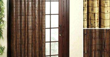 Как выбрать деревянные шторы на дверной проем?