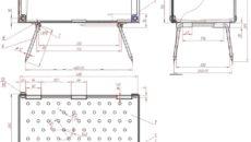 Схемы изготовления подставок под мангал