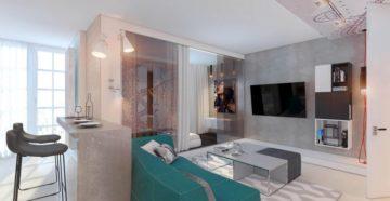Дизайн квартиры-студии 40 кв. м.