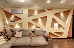 Декоры из гипсокартона в интерьере