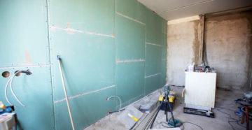 Выравнивание стен гипсокартоном: особенности процесса