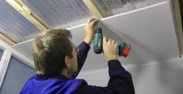 Отделка потолка пластиковыми панелями своими руками