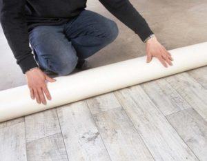 Как разгладить линолеум на полу?