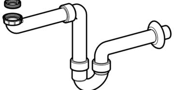 Металлические сифоны для раковины: характеристики и достоинства