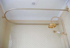 Штанги в ванную для шторы: выбор и установка