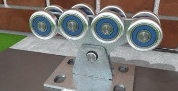 Ролики для откатных ворот: особенности и монтаж