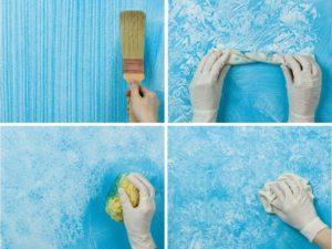 Нанесение фактурной краски: оригинальные способы своими руками