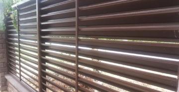 Забор-жалюзи: особенности конструкции