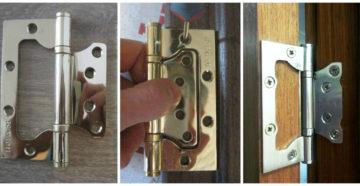 Как осуществить установку дверных петель и как навесить на них дверь?