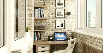 Дизайн кабинета на лоджии
